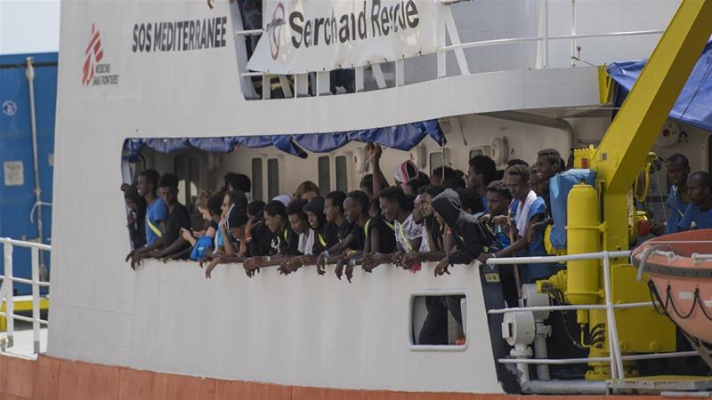 The Aquarius was at the centre of a European standoff over disembarkation twice in recent months [File: Rene Rossignaud/The Associated Press]