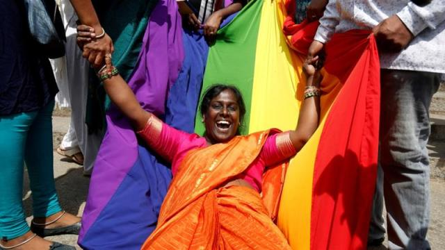 An Lgbtiq Activist Celebrates The Supreme Courts Decision To Decriminalise Gay Sex In Bengaluru India