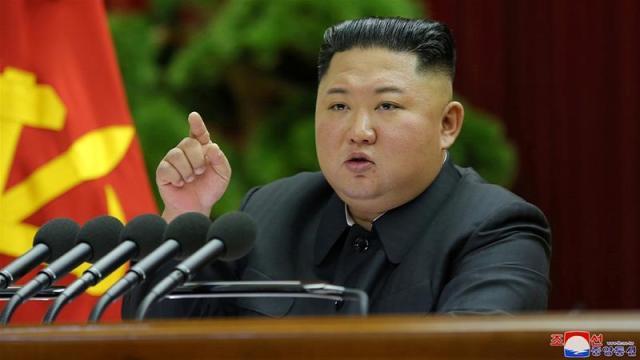 North Korean leader Kim Jong Un convened the party plenary a week after a high-level military meeting [KCNA via Reuters]