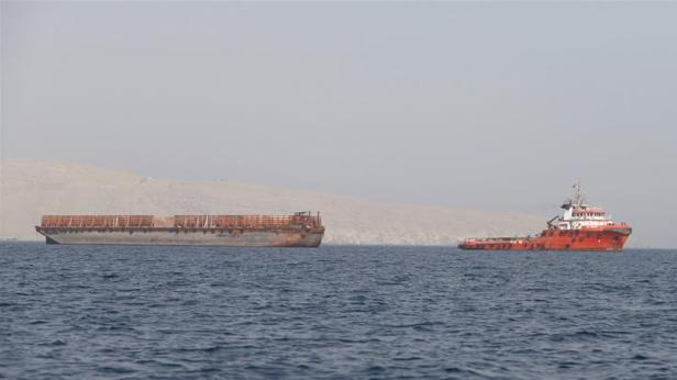 Fujairah's port is located 140km from the Strait of Hormuz, the focus of increasing Iran-US tensions [Hamad Mohammed/Reuters]