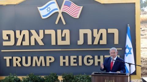 Trump recognised the Golan Heights as Israeli territory in March [Ammar Awad/Reuters]