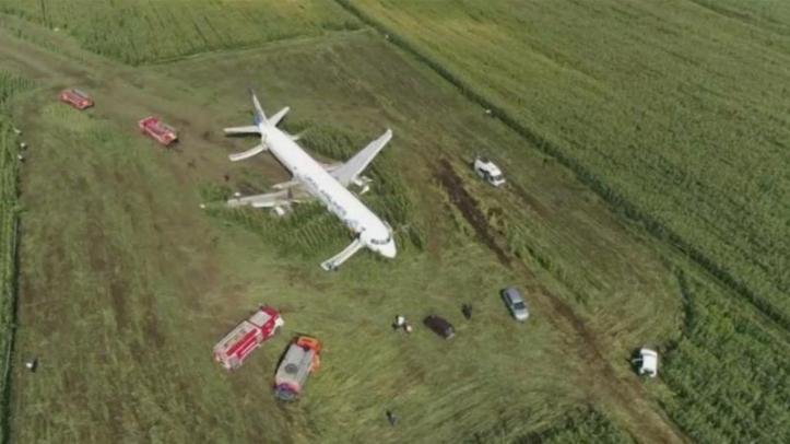 Ural Airlines plane makes 'miracle' emergency landing