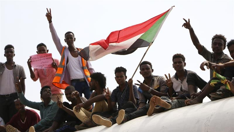 Pro-democracy protesters continued taking to the streets after al-Bashir's toppling (AP Photo)