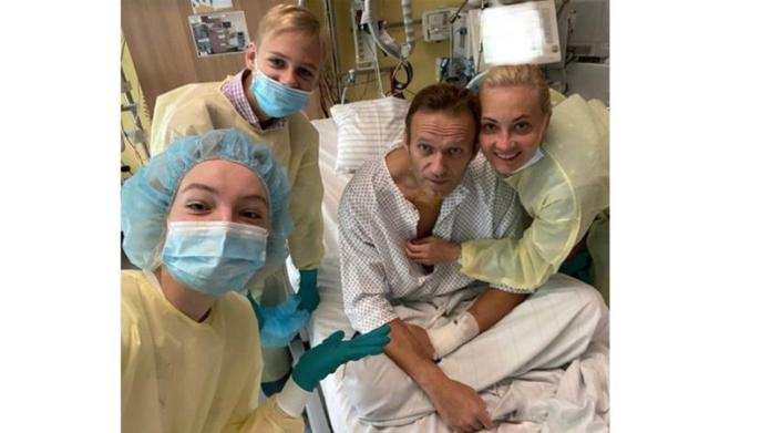 Navalny, 44, was flown to Berlin for treatment at the Charite hospital two days after falling ill on a domestic flight in Russia on August 20 [Courtesy: Navalny/Instagram]