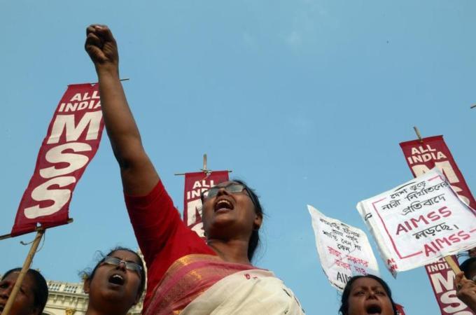 Demonstration woman gang rape