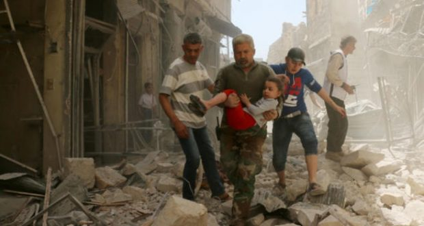 Image result for death and destruction over in Syria