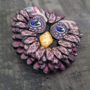 Owl brooch - 2