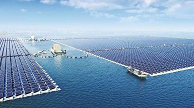 China's floating Solar Power Plant, Anhui Province