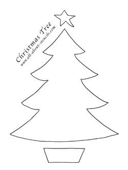 Free Christmas Tree Stencils And Plenty Of Christmas Crafts
