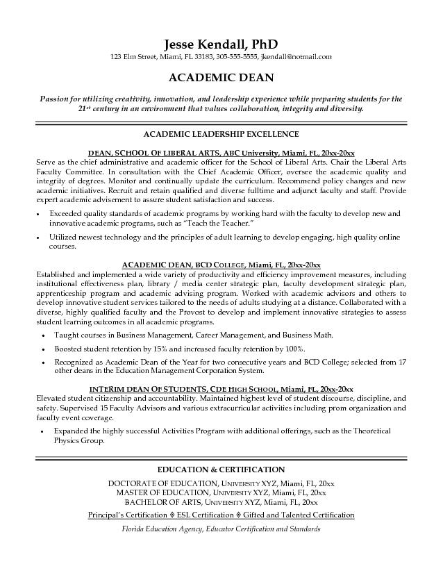Academic Cv Example Professor Resume Example Teacher Resume