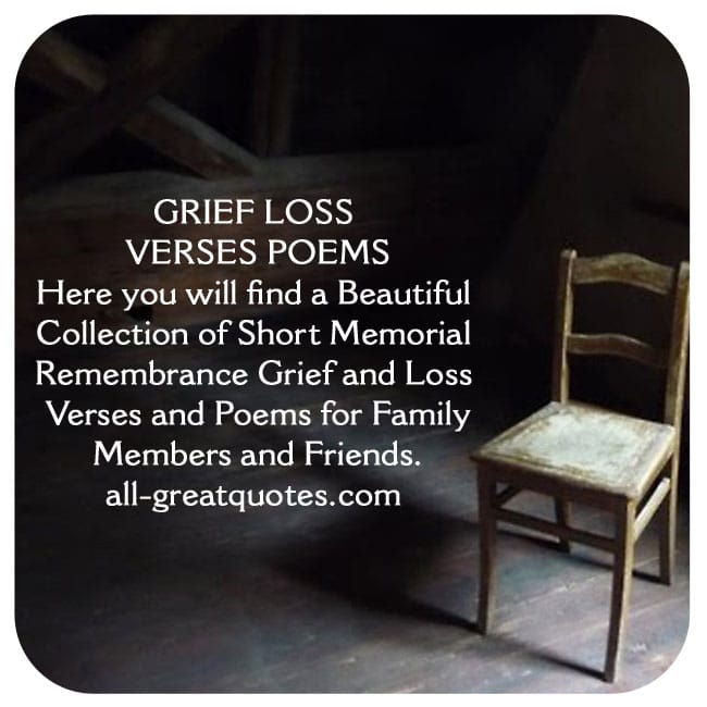 In Loving Memory Grief Loss Verses And Poems Family