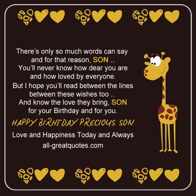 Facebook Birthday Cards Son
