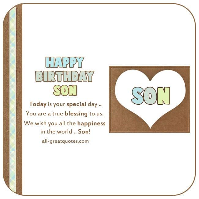 Free Birthday Cards For Son Happy Birthday Son