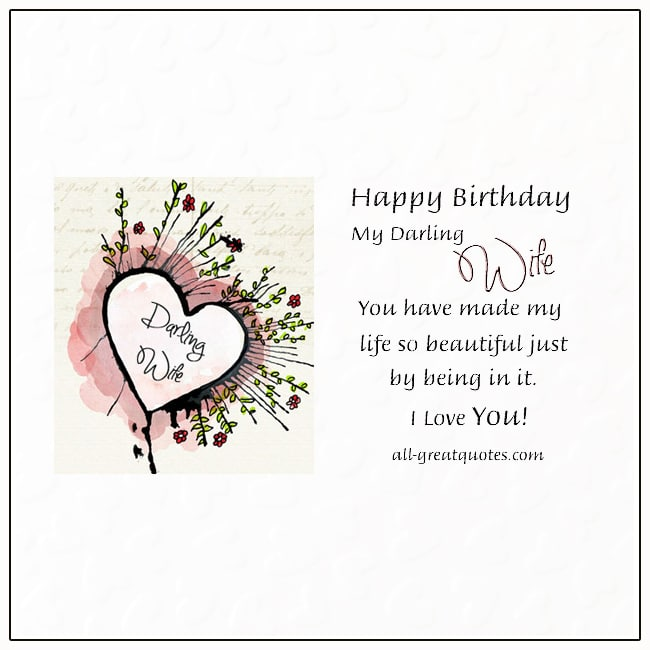 Happy Birthday Darling Wife Free Birthday Cards For Wife On Facebook