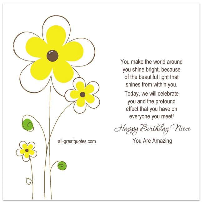 Happy Birthday Niece You Are Amazing Free Niece Birthday Cards