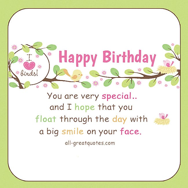 You Are Very Special Birthday Cards For Facebook