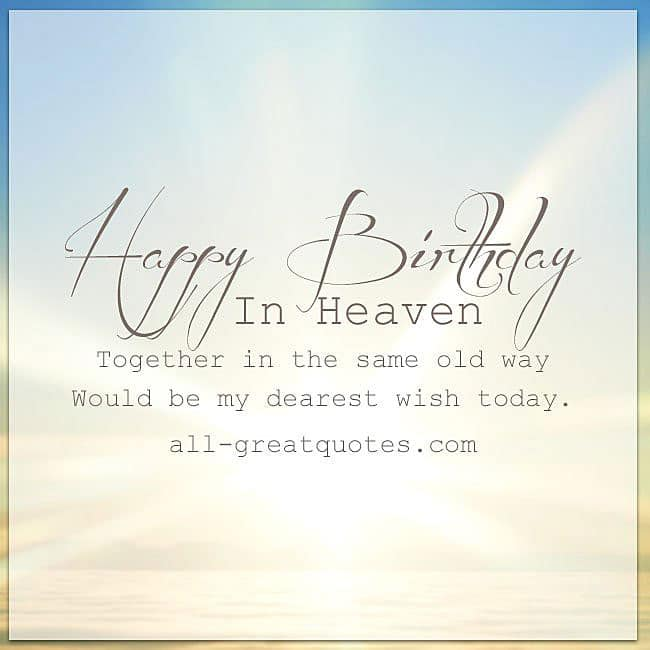 Happy Birthday In Heaven Facebook Greeting Cards