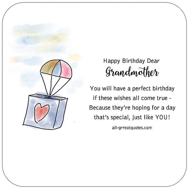 Happy Birthday Dear Grandmother Free Grandma Card
