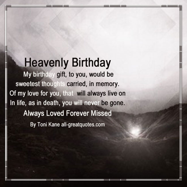 Happy Birthday In Heaven Poems Poems For Your Birthday In Heaven