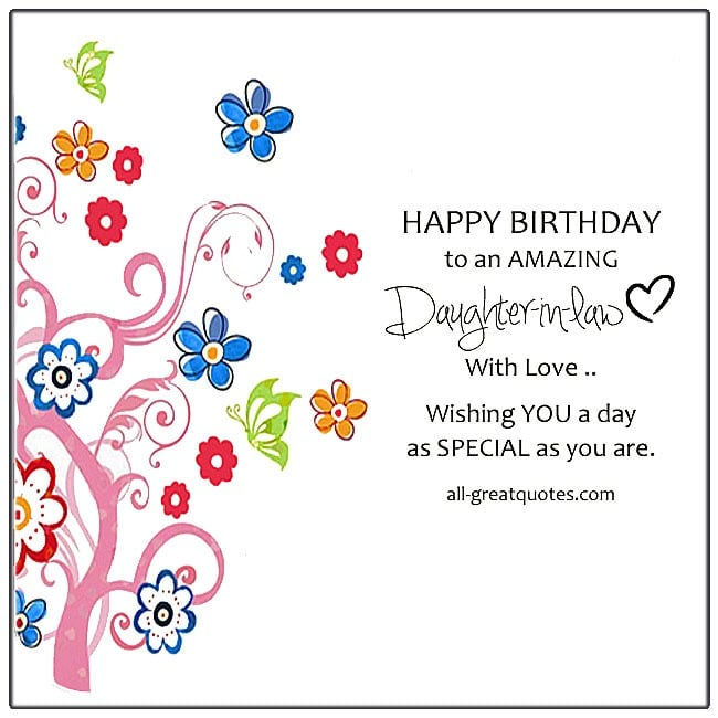 Free Birthday Cards For Daughter In Law Birthday Cards