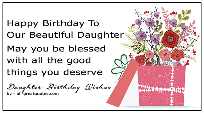 100 Cute Birthday Wishes For Daughter Greeting Cards For Facebook