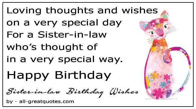 Happy Birthday Sister In Law Wishes Free Facebook Greeting Cards