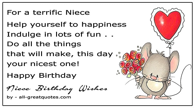 Birthday Poems For Niece Write Birthday Wishes Niece Birthday Quotes