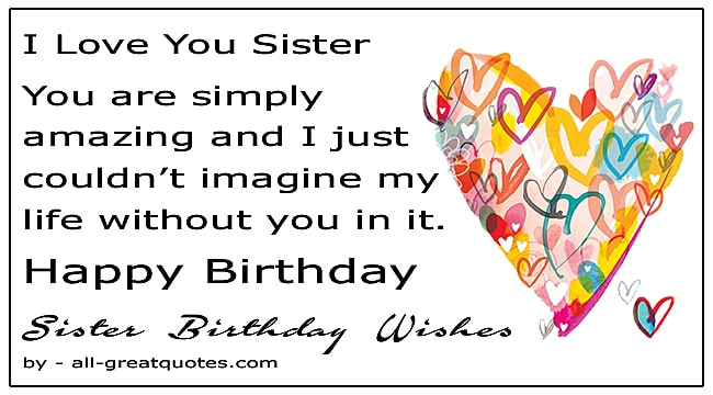 Birthday Wishes For Sister Birthday Wishes Messages To Make Her Day