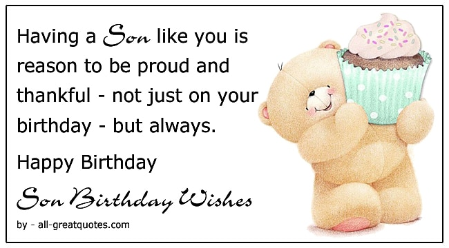 Birthday Wishes For Son Ideas For Parents Write In Son S Birthday Card