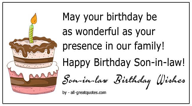 Happy Birthday Son In Law Birthday Wishes For Son In Law Greetings