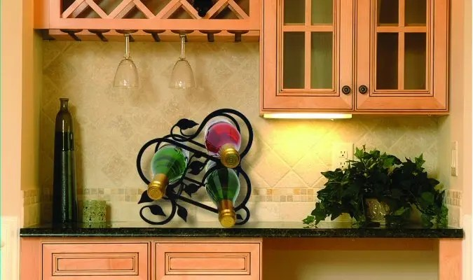 Adding Wine Racks to Kitchen Counter Tops