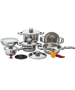 9-ply waterless cookware