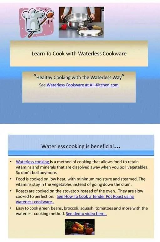 waterless cooking method