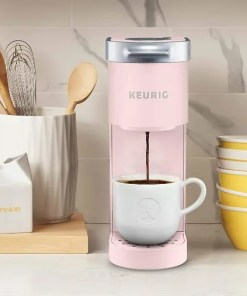 keurig mini coffee maker-rose