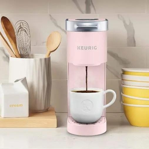 keurig mini coffee maker-rose