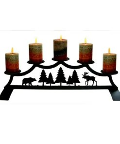 Cabin fireplace Candelabra