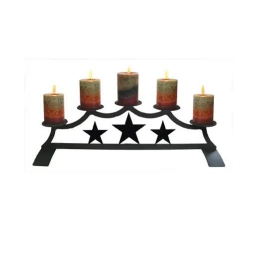 Lone Star Fireplace Candelabra