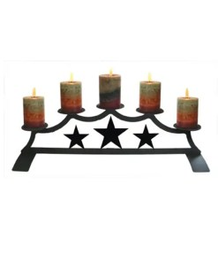 Lone Star Fireplace Candelabra