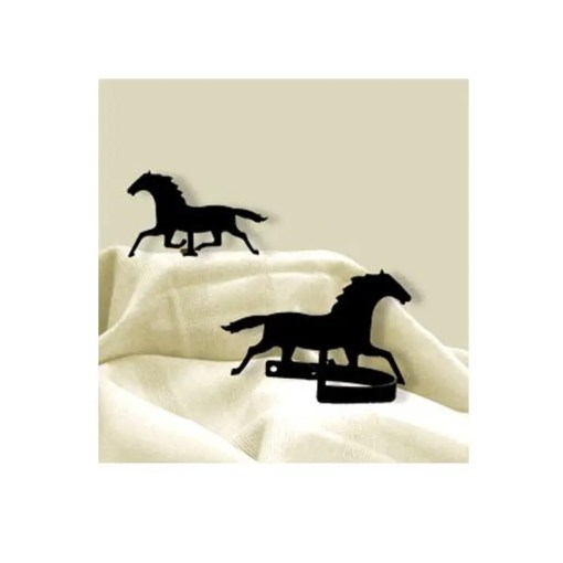 running horse curtain tiebacks