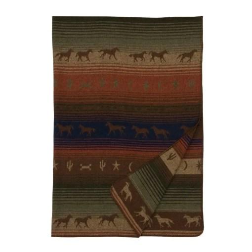 mustang throw blanket