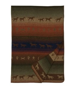 mustang throw blanket