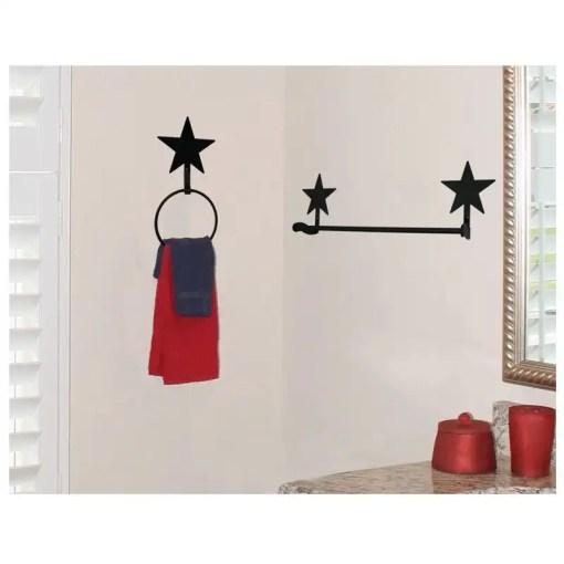 star bath towel rack