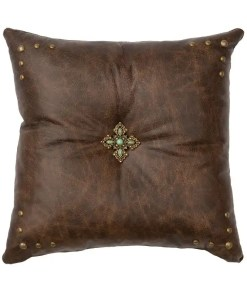 Texas Leather Pillow