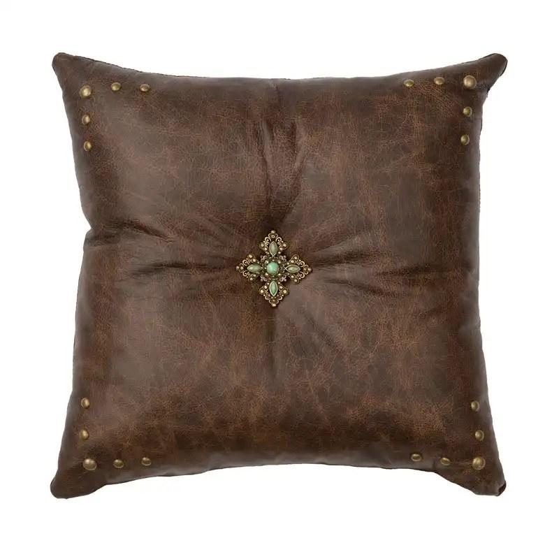 Texas Leather Pillow