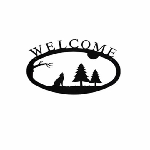 timber wolf welcome sign