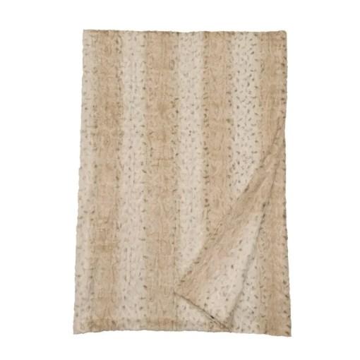 Pearl Leopard Fur Blanket