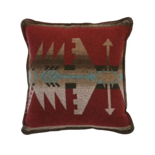 Yellowstone Red Throw Pillow