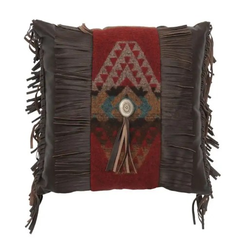 Yellowstone Leather Pillow