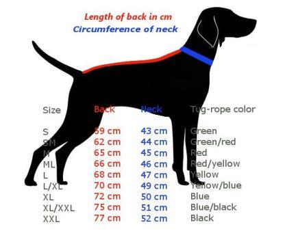 Guide des tailles harnais Axaeco XShirt