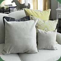 blank pillows
